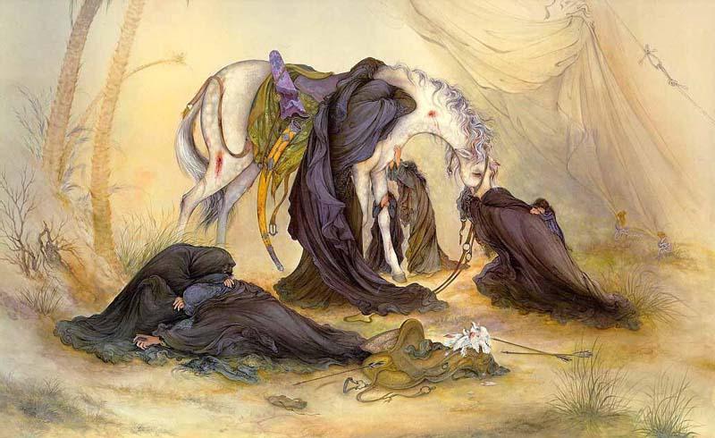 نقاشی عصر عاشورا - فرشچیان